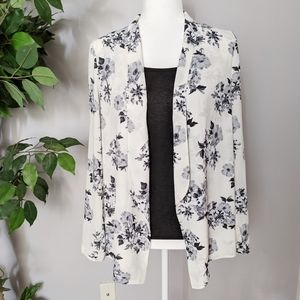Lush open floral cardigan